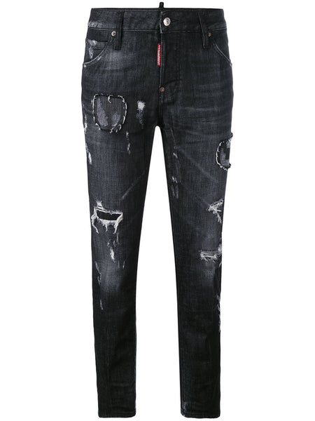 'DSquared2 - distressed skinny jeans