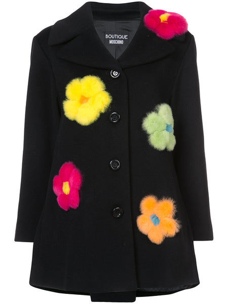 'single breasted flower coat