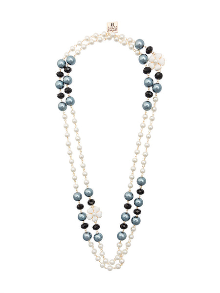 'double-strand pearl necklace