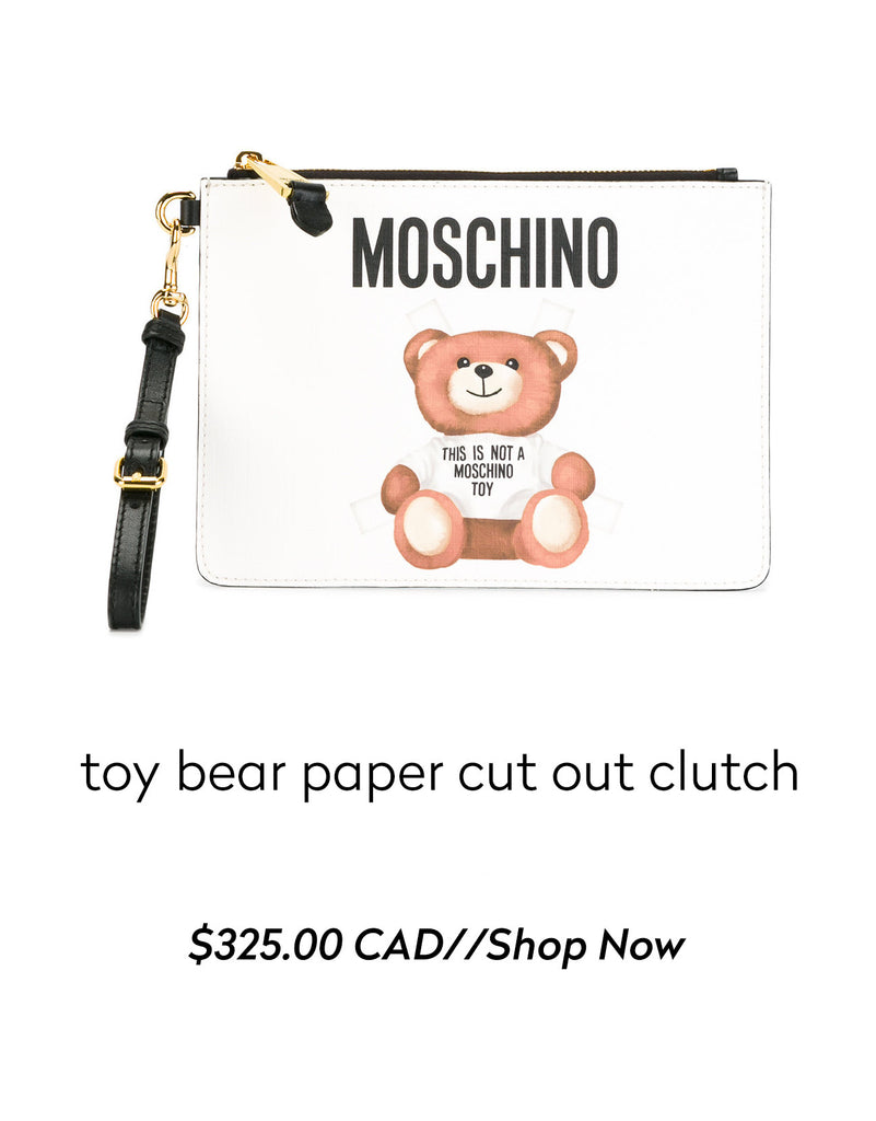 MOSCHINO - toy bear paper cut out clutch