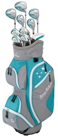 Tour Edge Lady Edge Combo Complete Ladies Sets (11 Piece w Cart Bag)
