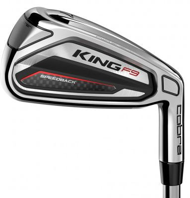 Cobra KING F9 SPEEDBACK Irons Steel Shaft