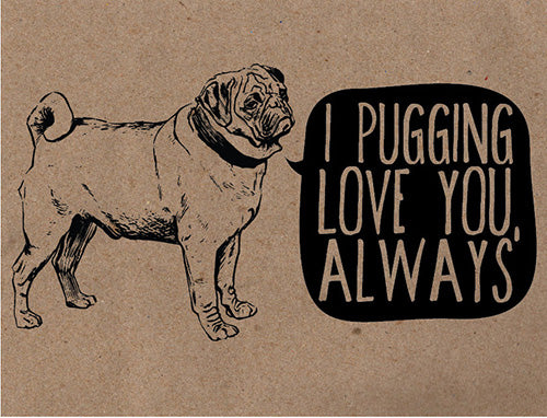14 Dogs Show You How To Get Valentines Day Right World of Angus – Pug Valentine Cards