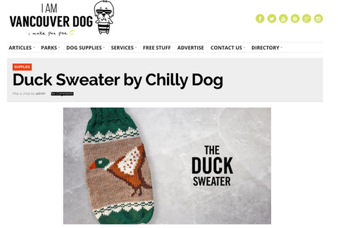 The Duck Sweater by Chilly Dog from World of Angus on I Am Vancouver Dog
