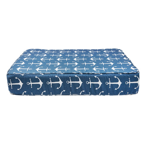 Anchor Print Dog Bed