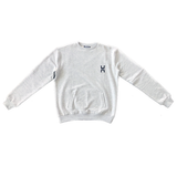H Logo Crewneck in Light Grey