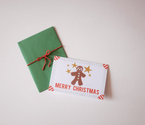 Holiday Card- Gingerbread Man