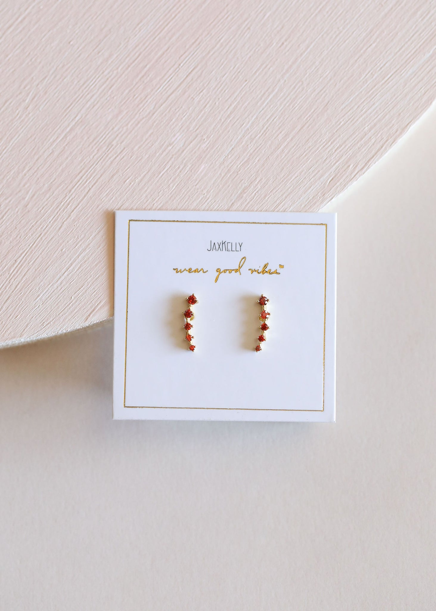 Amber Crawler Earrings
