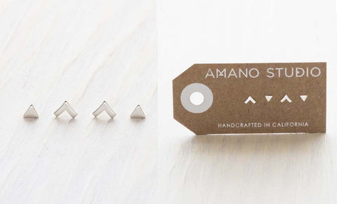 Sterling Silver Insignia Combo Studs