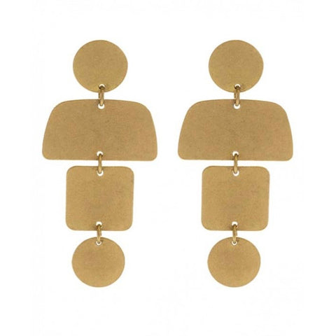 Geo Stack Earrings