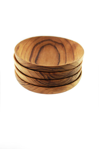 Teak Pinch Bowls - Set of 4