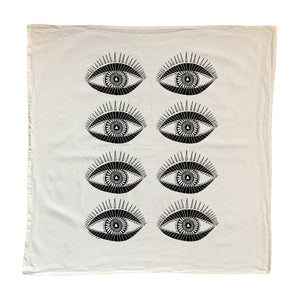 Native Bear Seeing Eye Tea Towel