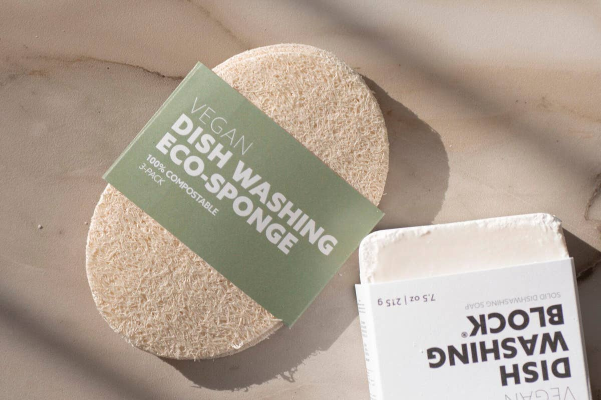 Biodegradable Eco-Sponges for Dish Washing (3 Pack)