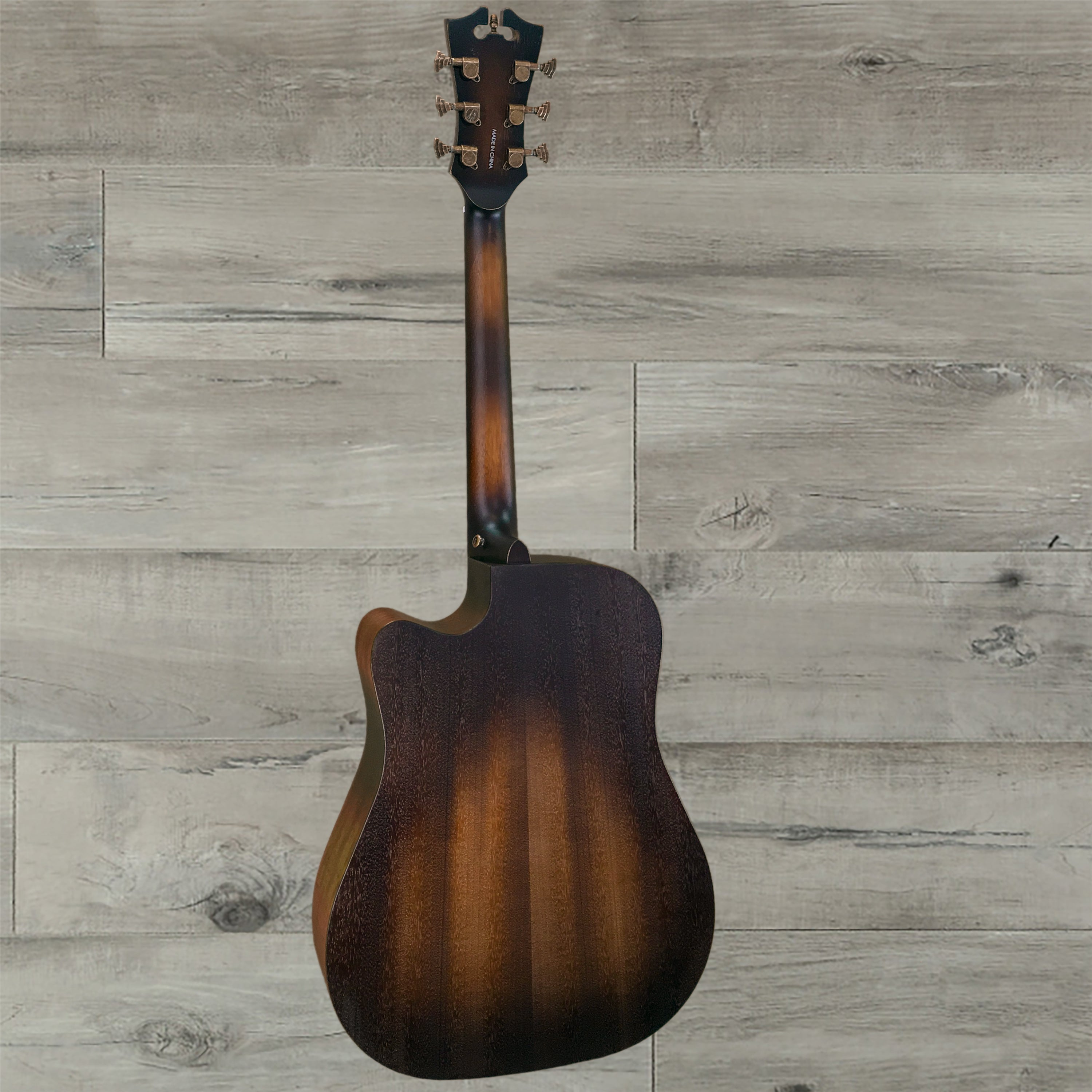 DAngelico Premier Bowery Acoustic Guitar Aged Natural Mahogany
