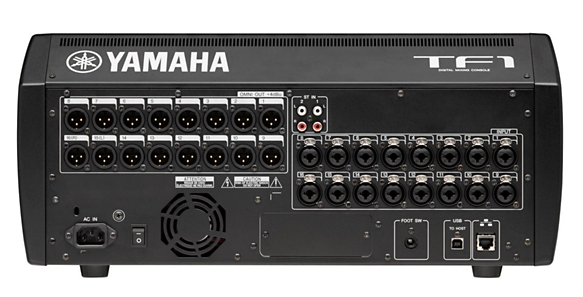 Yamaha tf1 16 1 channel digital mixer huber breese music for Firewire mixer motorized faders