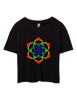 Grateful D*ad Lotus Flower Crop Top