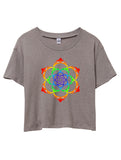 Grateful Dead Lotus Flower Stealie Crop Top