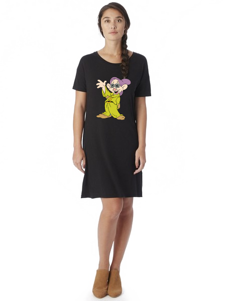 Eclectic Taste Dopey Biscuits T-Shirt Dress