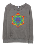 Eclectic Taste Lotus Flower Stealie Eco-Fleece Sweatshirt