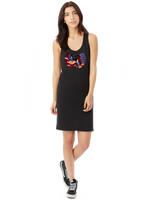 Eclectic Taste Wu Tang x Alice in Wonderland Modal Racerback Tank Dress