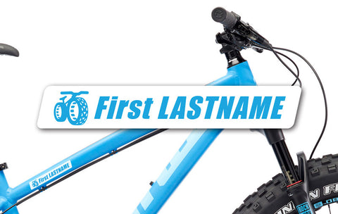 Fat Bike Nation Frame Decals
