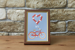 "Love My Bike 8.5"" x 5.5"" Mini Print"