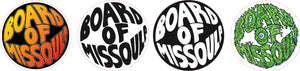 Board Of Missoula Fisheye Sticker Pack 1.5 inch round