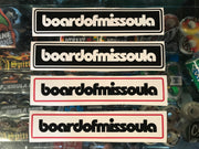 "Board of Missoula Bar Logo Sticker Pack 8"" - Board Of Missoula - Shopping Missoula"