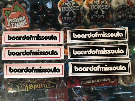 Board of Missoula Bar Logo Sticker 6 Pack - Board Of Missoula - Shopping Missoula