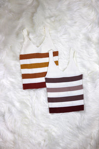 Knitted Striped Sweater Top - Baby Doll Luxury Hair