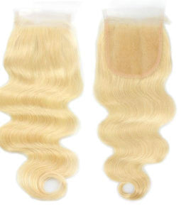 Platinum Blonde Lace Closure - Baby Doll Luxury Hair