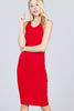 COTTON SLEEVELESS RACERBACK MIDI DRESS - Baby Doll Luxury Hair