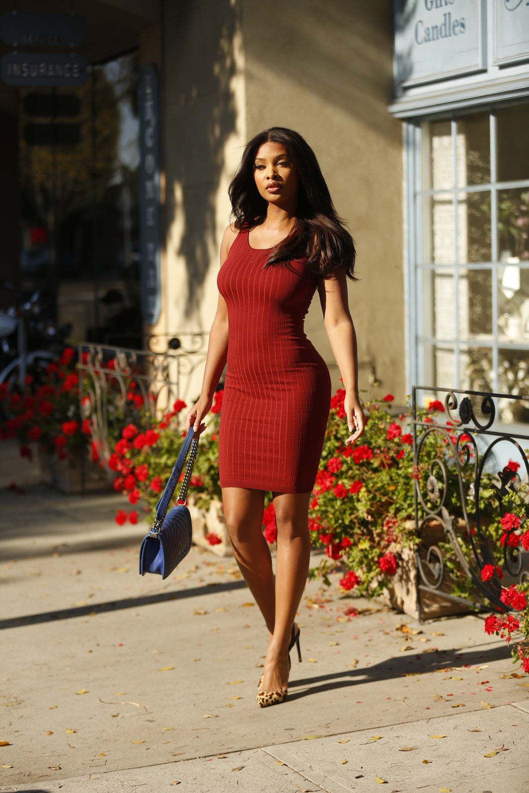 Ribbed Knit Dress - Baby Doll Luxury Hair