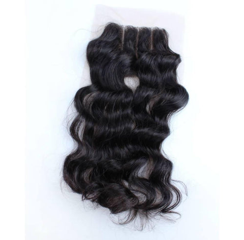Three Part Lace Closure Wavy - Baby Doll Luxury Hair