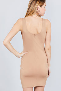 Scoop Neck Fitted Dress - Baby Doll Luxury Hair