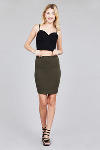 FITTED MINI PONTE SKIRT - Baby Doll Luxury Hair