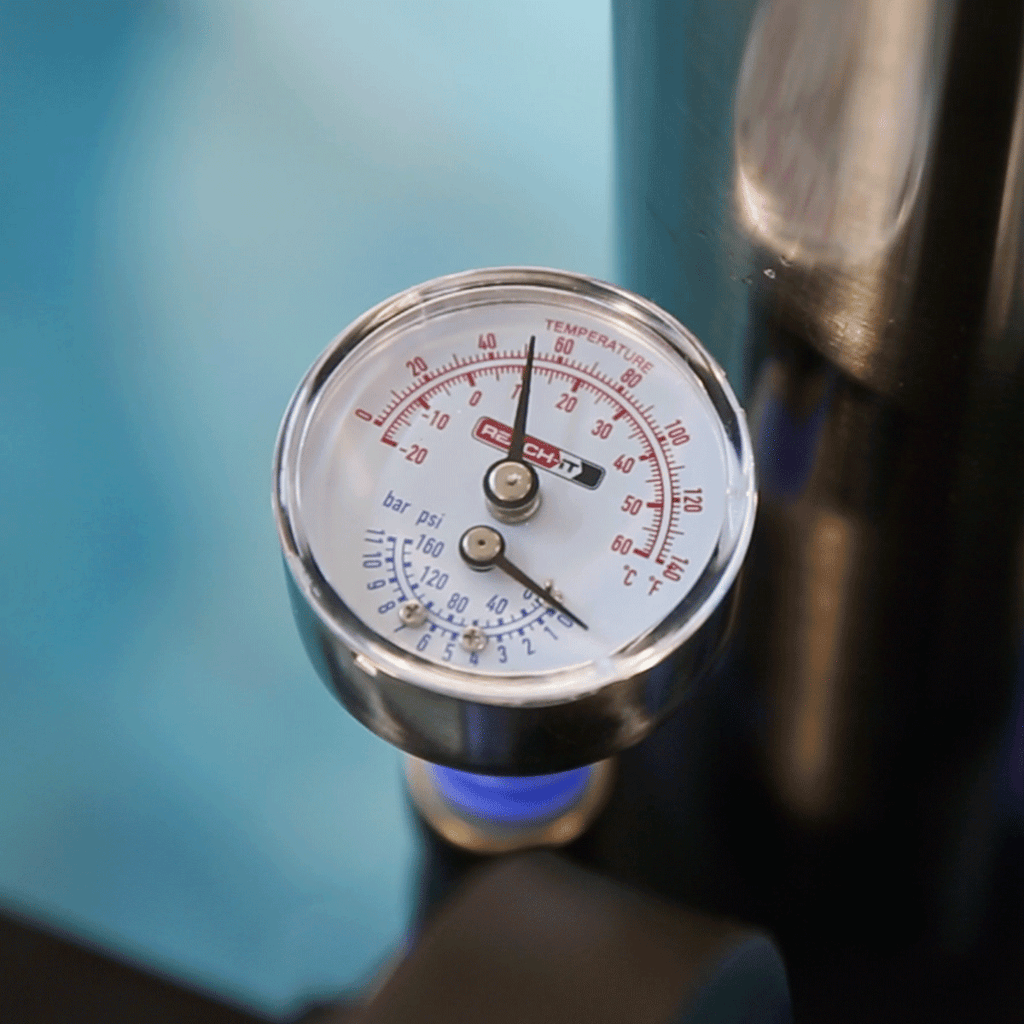 FLOW PRESSURE & TEMPERATURE GAUGE