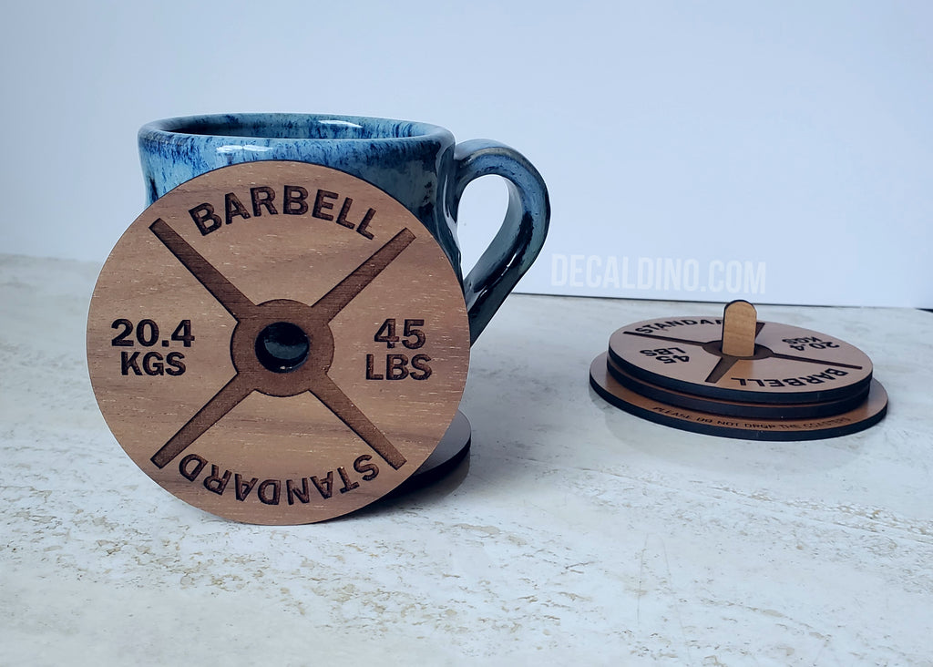 Weight Plate Coaster Set - gym fitness crossfit coffee drink