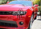 Camaro Headlight Scars - Decal Dino