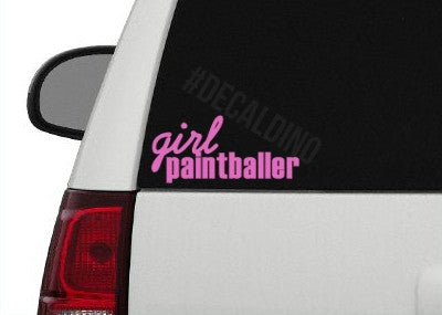 Girl Paintballer Sticker Decal - paintball