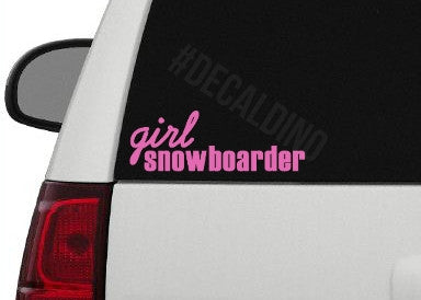 Girl Snowboarder Decal Sticker