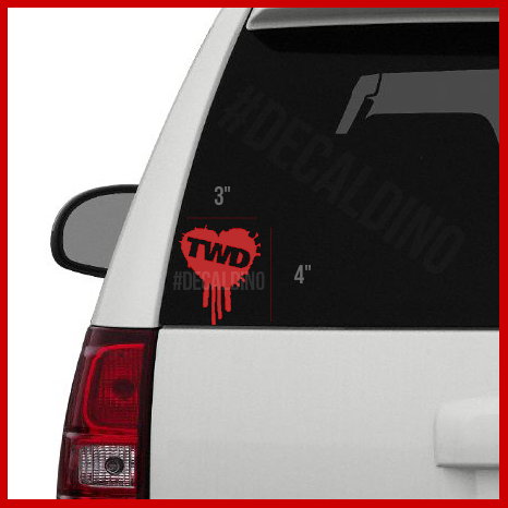 The Walking Dead Heart Decal