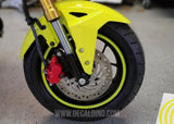 Grom / Z125 Rim Stripe Tape Decal -Bright Yellow Wheel Tire Accents stickers
