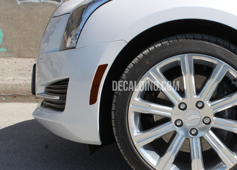 Cadillac CTS 2018 Side Reflector Tint Overlay Smoke out