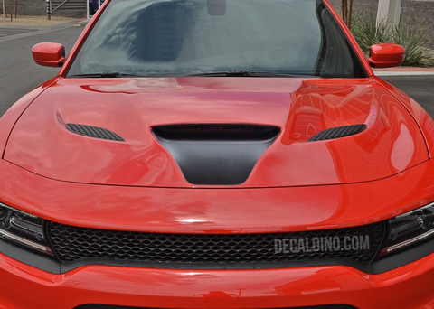 Dodge Charger Black Hood Decal - Scoop Intake hellcat
