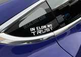 Elon Musk - Decal Sticker Tesla Model 3 x Y s
