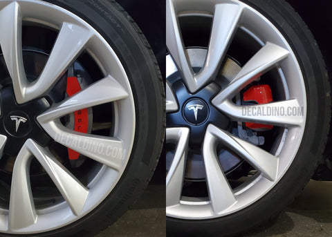Tesla Model 3 Red brake calipers