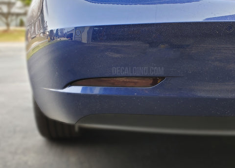 Tesla Model 3 Rear Reflector Bumper Smoke Tint