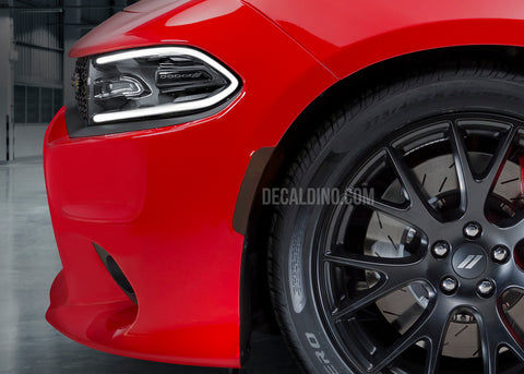 Dodge Charger Tint for Reflectors Side markers Overlay Dark Black out