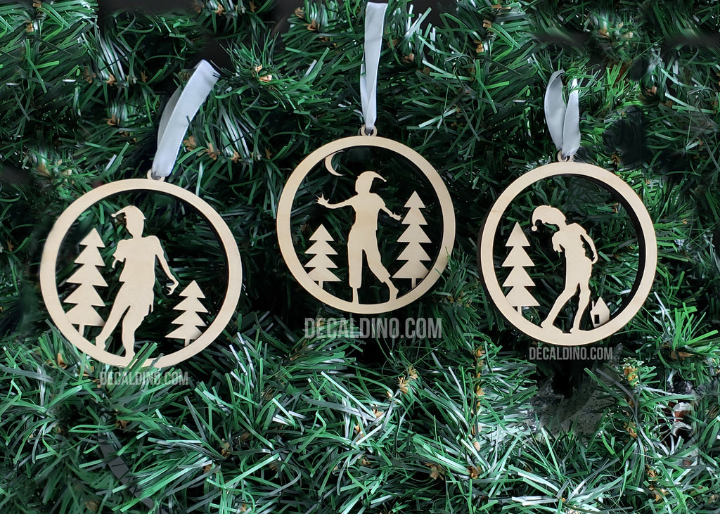 Zombie Holiday Ornaments